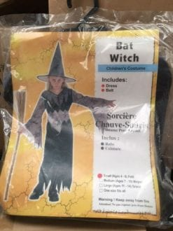 BAT WITCH BLACK CHILD HALLOWEEN GIRL'S FANCY DRESS COSTUME