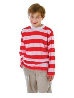 Child Red White Striped Top