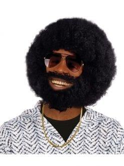 Afro Wig And Beard Set