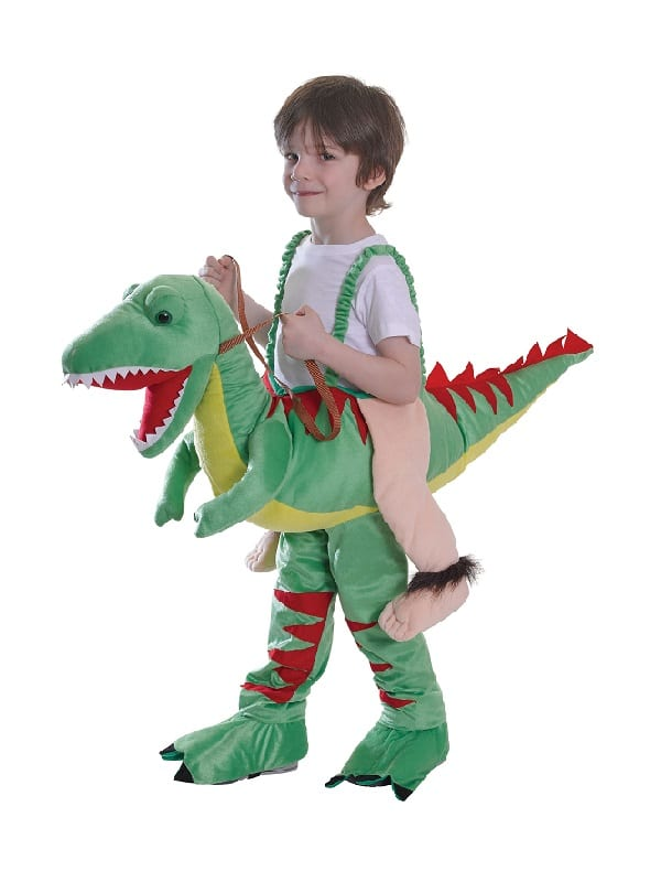 Kids Riding Dinosaur