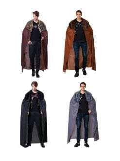 Cape With Fur Collar