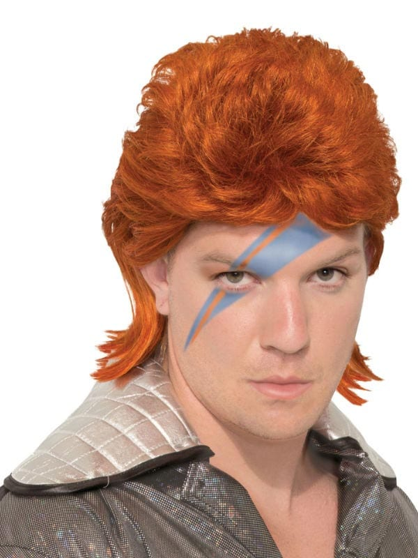 70s Rock Legend Orange Wig
