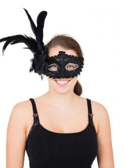tall feather eye mask