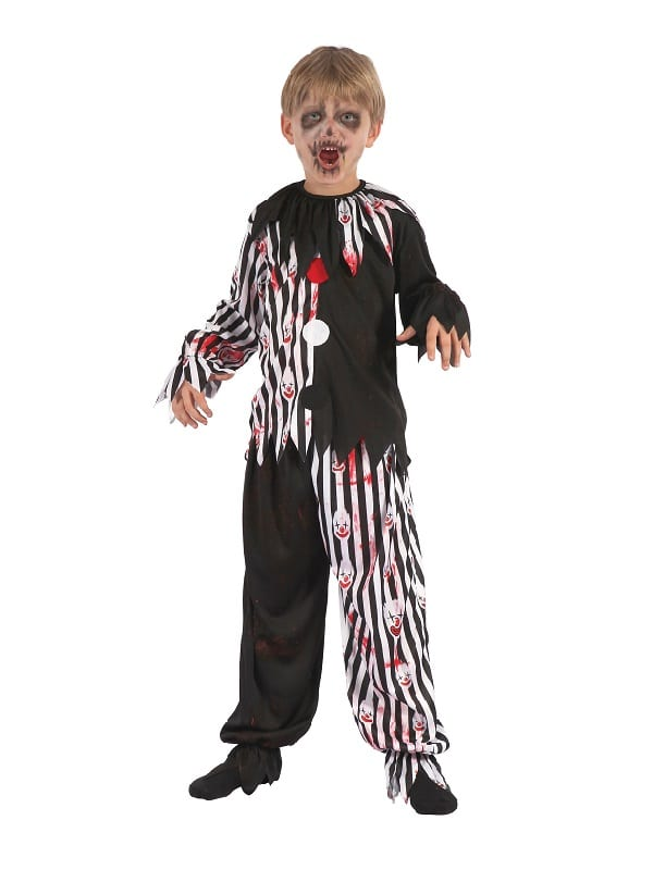 Child Bloody Harlequin Clown