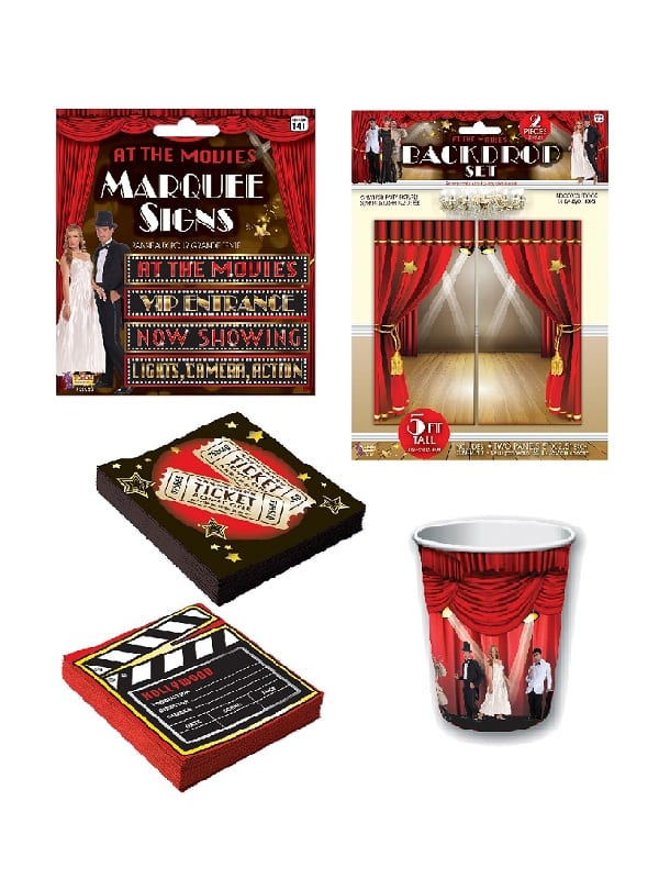 At The Movies Tableware & Decorations