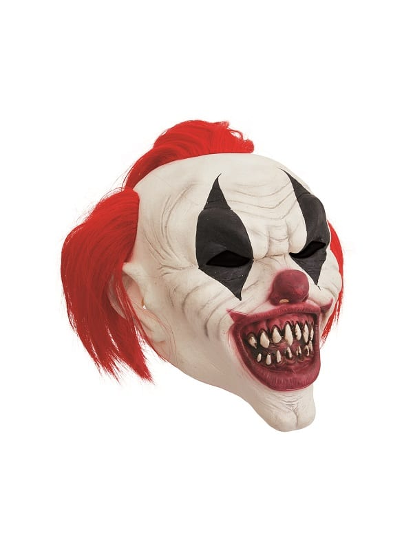 Crazy Red Hair Clown Mask