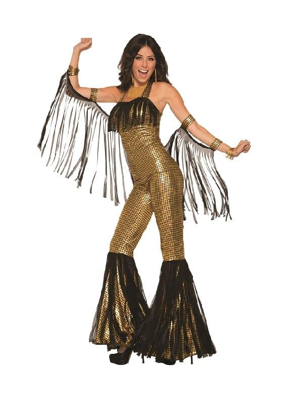 Disco Queen Jumpsuit Gold