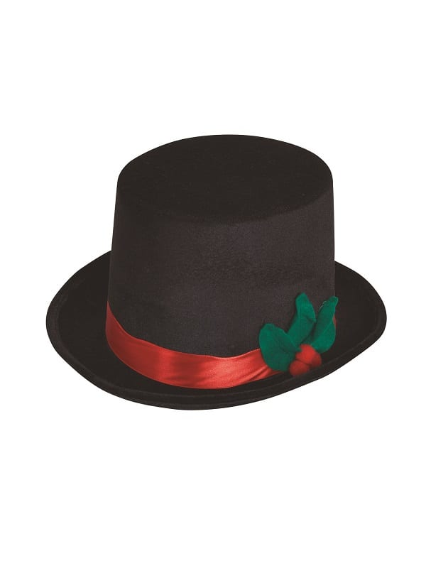 Top Hat with Mistletoe