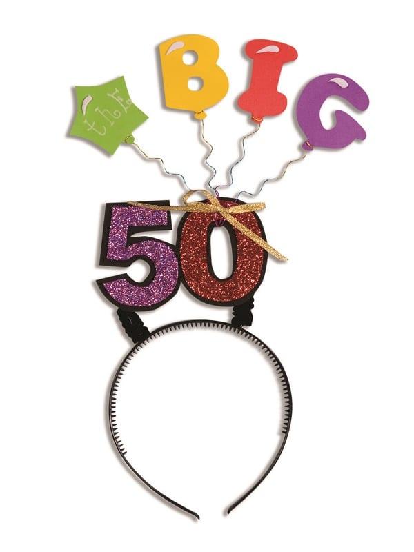 The Big 50 Birthday Headband