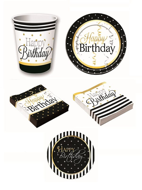 Elegant Birthday Tableware