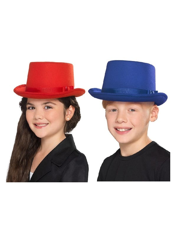 Kids Blue or Red Top Hat