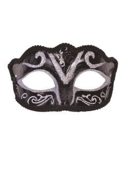 Black & Silver Glitter Eye Mask