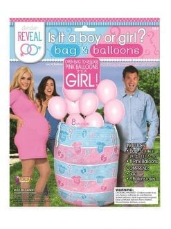 Gender Reveal Balloons Pink