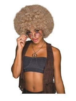 70s Afro Blonde / Brown Wig
