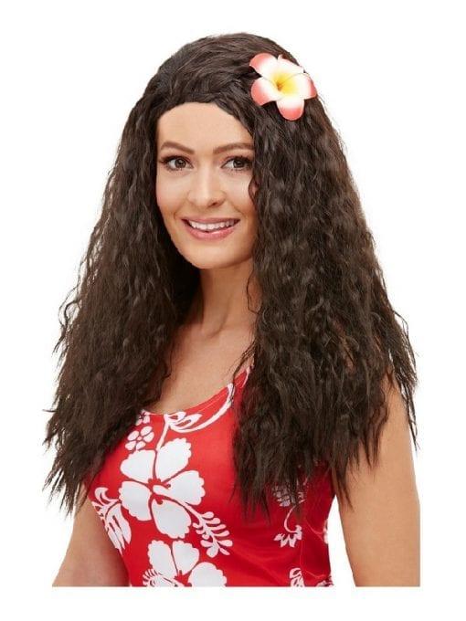 Hawaiian Wig with Flower