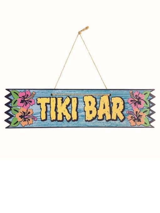 Tiki Bar Plaque