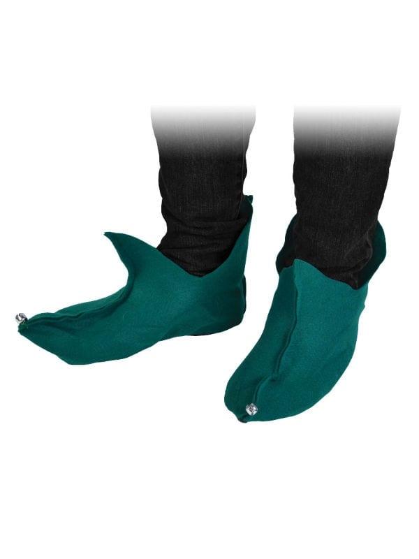 Elf / Pixie Shoes Felt Green