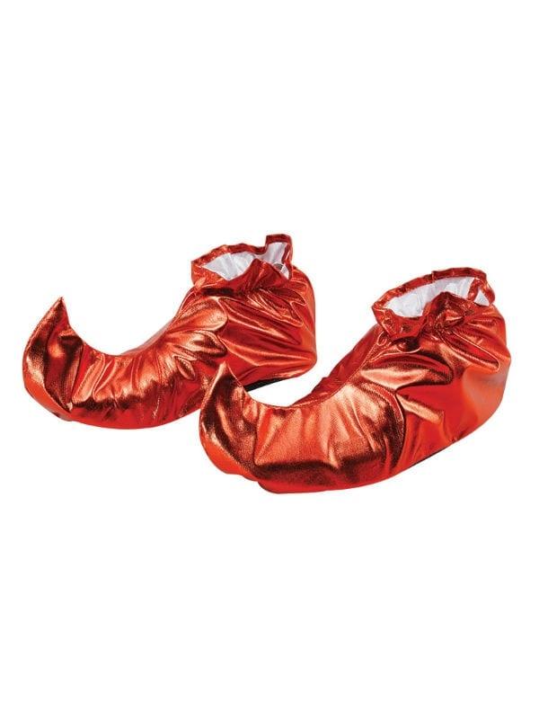 Elf Metallic Red Shoe Covers