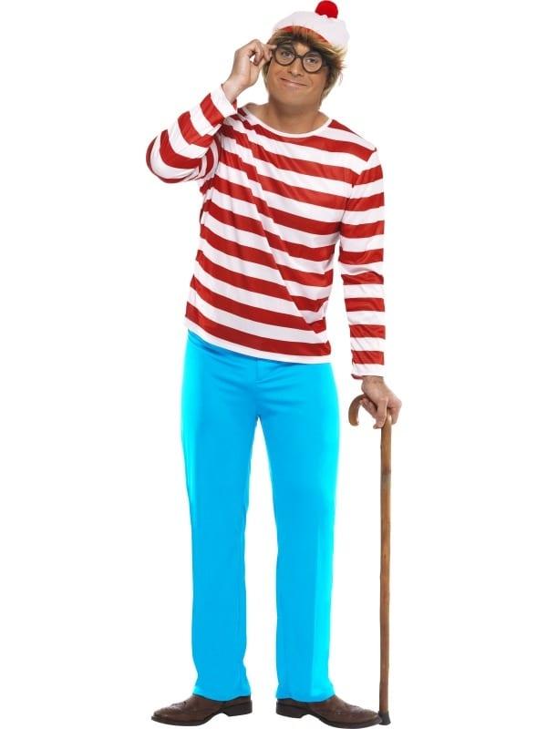 Where's Wally Men's Costume