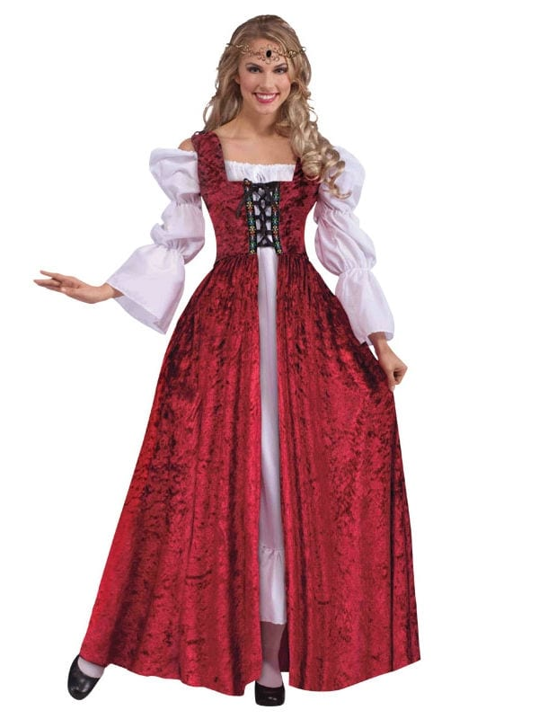 Medieval Lace Up Gown - Costumes R Us LTD Fancy Dress
