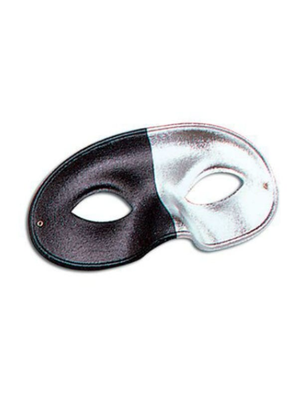 2 Tone Silver/Black Eye Mask