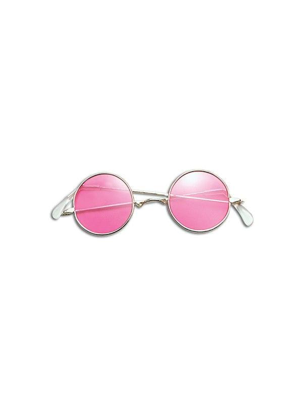 Pink Lens Lennon Glasses