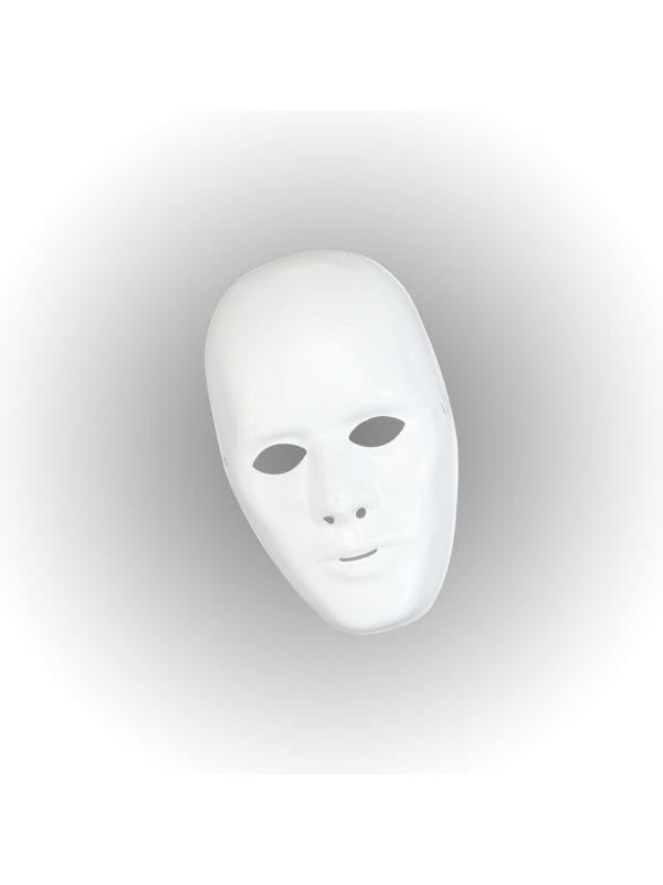 White Plastic Face Mask Male