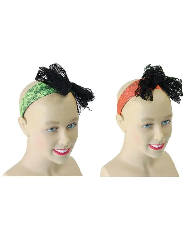 80's Neon Lace Headband