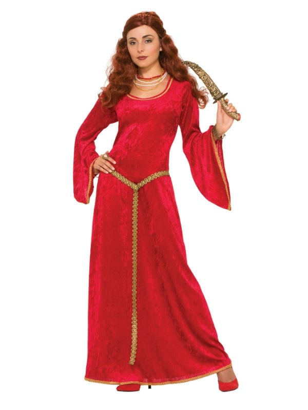 RUBY SORCERESS DRESS MEDIEVAL FOR FANCY DRESS PARTY