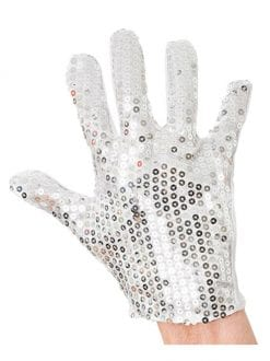 ADULT SEQUIN GLOVE FANCY DRESS COSTUME ACCESSORY