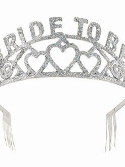 BRIDE TO BE GLITTER TIARA FANCY DRESS WEDDING PARTY ACCESSORY