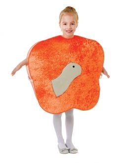 CHILD GIANT PEACH COSTUME WITH WORM FANCY DRESS