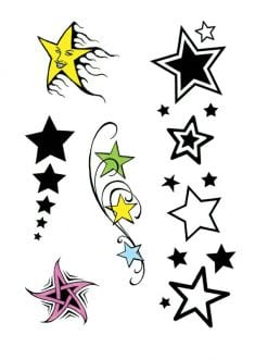 10 STAR THEME TATTOOS FOR FANCY DRESS PARTY ACCESSORY