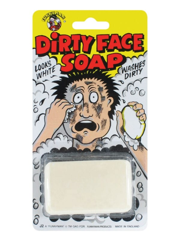 DIRTY FACE SOAP FUN JOKE FOR FAMILY FRIENDS BIRTHDAY PARTY ACCESSORY