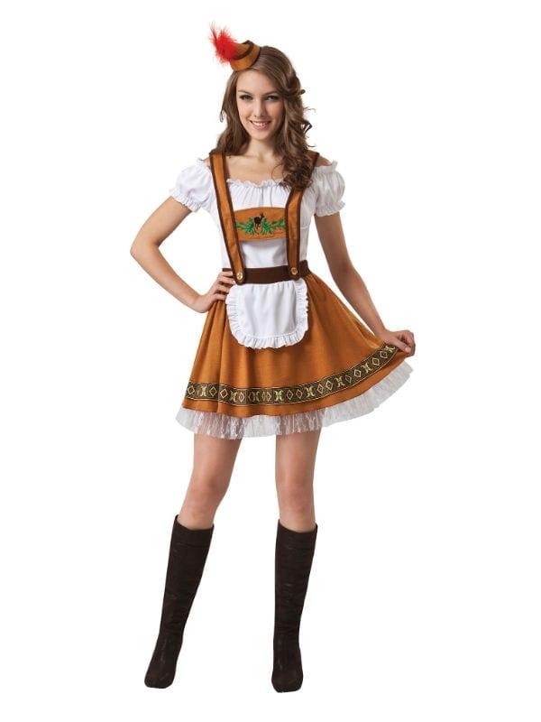 OKTOBERFEST GERMAN COUNTRY BAR GIRL WOMEN FANCY DRESS ADULT