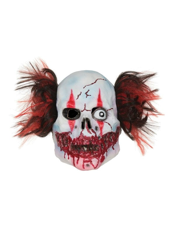 manic scary clown mask for halloween party adult accessory
