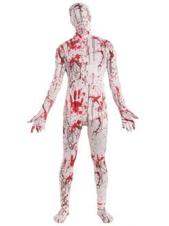 ADULT BLOODY SUIT DISAPPEARING MAN FANCY DRESS HALLOWEEN OUTFIT