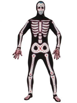 ADULT DAY OF THE DEAD DISAPPEARING MAN FANCY DRESS HALLOWEEN COSTUME