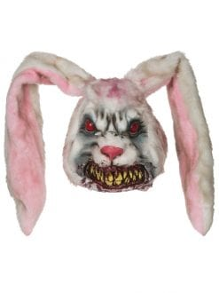 ADULT HALLOWEEN PARTY EVIL BUNNY OVERHEAD MASK FANCY DRESS