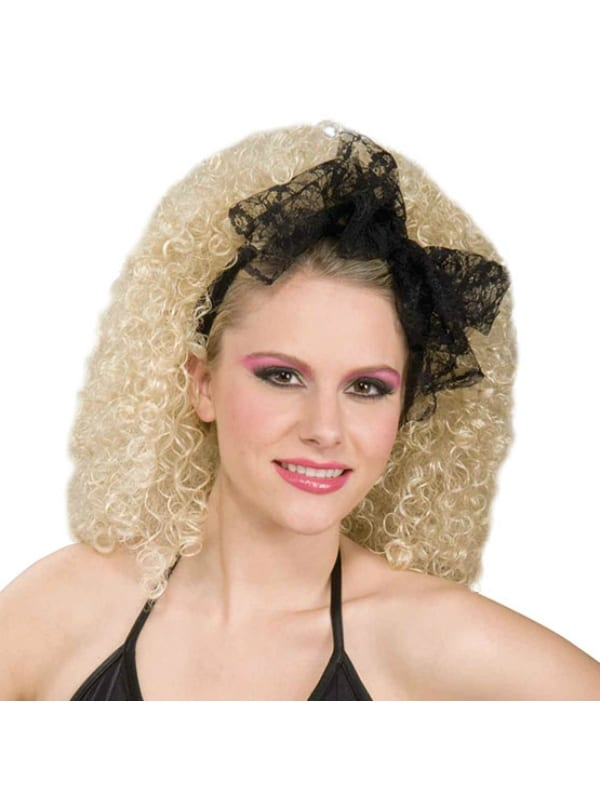 LADIES LACY BLACK HAIR SCARF 1950s STYLE FANCY DRESS ACCESSORY