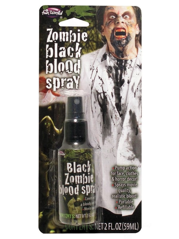 HALLOWEEN PARTY BLACK ZOMBIE BLOOD SPRAY 59ML FANCY DRESS MAKE UP