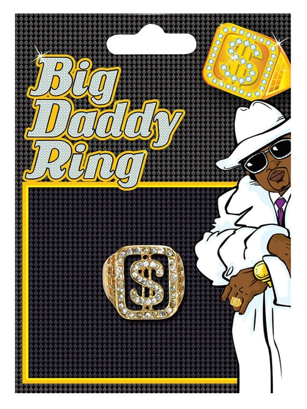 BIG DADDY RING FOR FANCY DRESS PARTY ACCESSORY