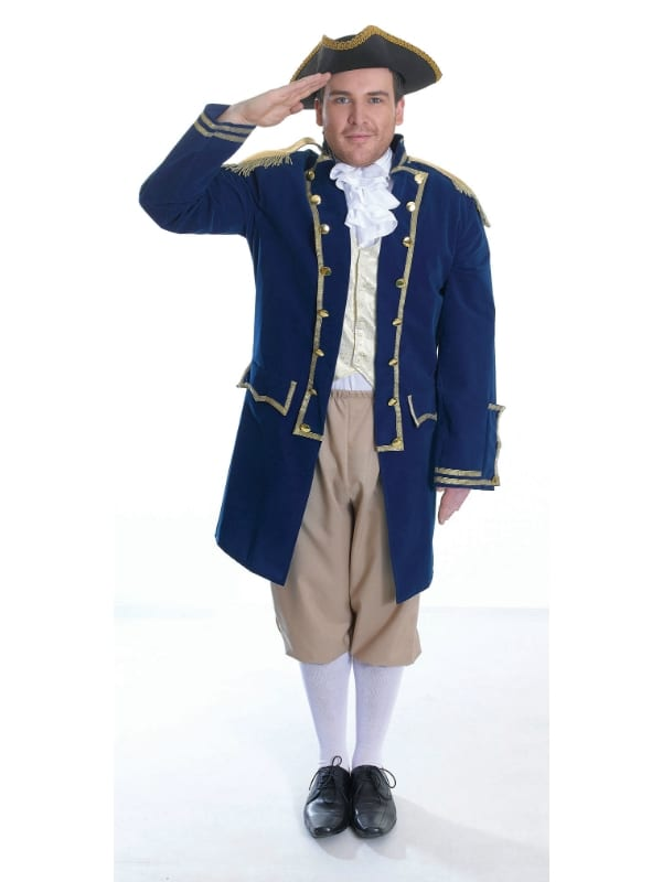 ADULT MENS ADMIRAL OF THE FLEET ONE SIZE FANCY DRESS COMPLETE OUTFIT