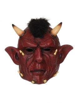 devil full head pvc mask for fancy dress halloween accessory