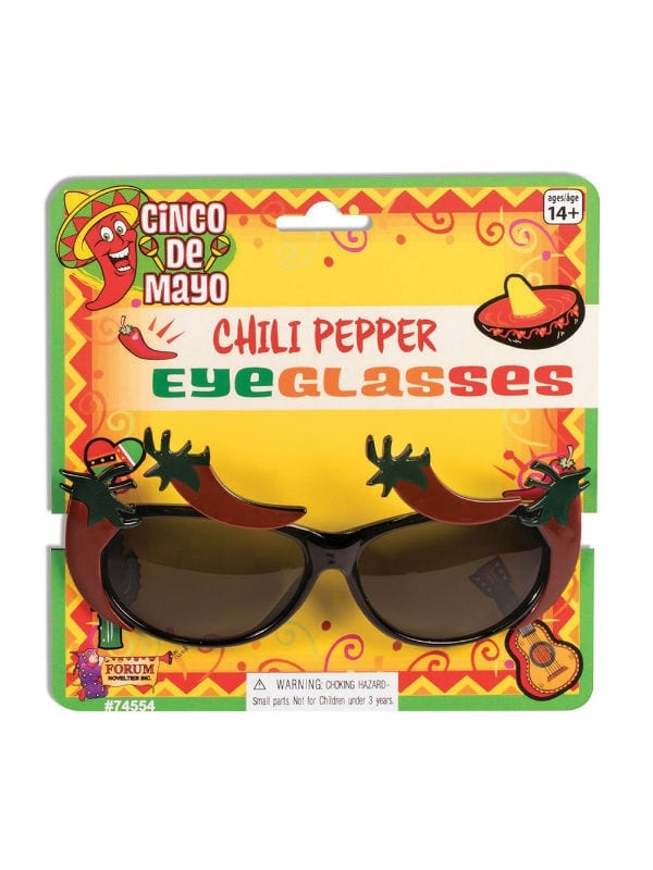 MEXICAN CHILLI PEPPER EYEGLASSES FOR FANCY DRESS PARTY ACCESSORY