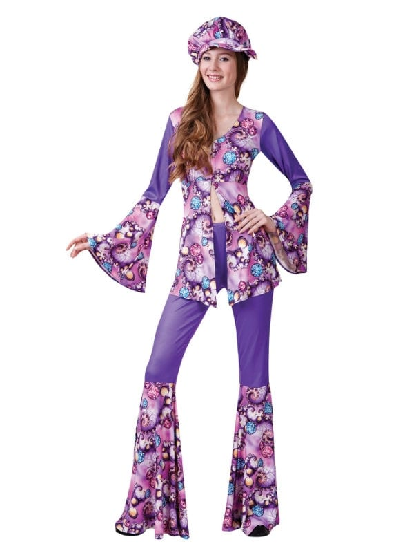 Groovy Hippy Woman - Costumes R Us LTD Fancy Dress
