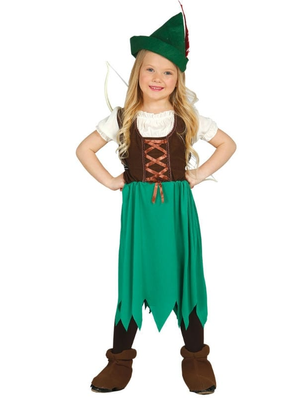 73825cae6f6 ROBIN HOOD GIRL CHILD FANCY DRESS COSTUME PARTY 3 SIZES