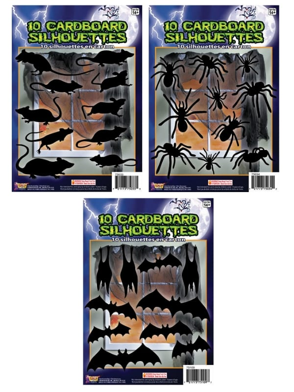 Spider Rat or Bat Shadow Silhouettes