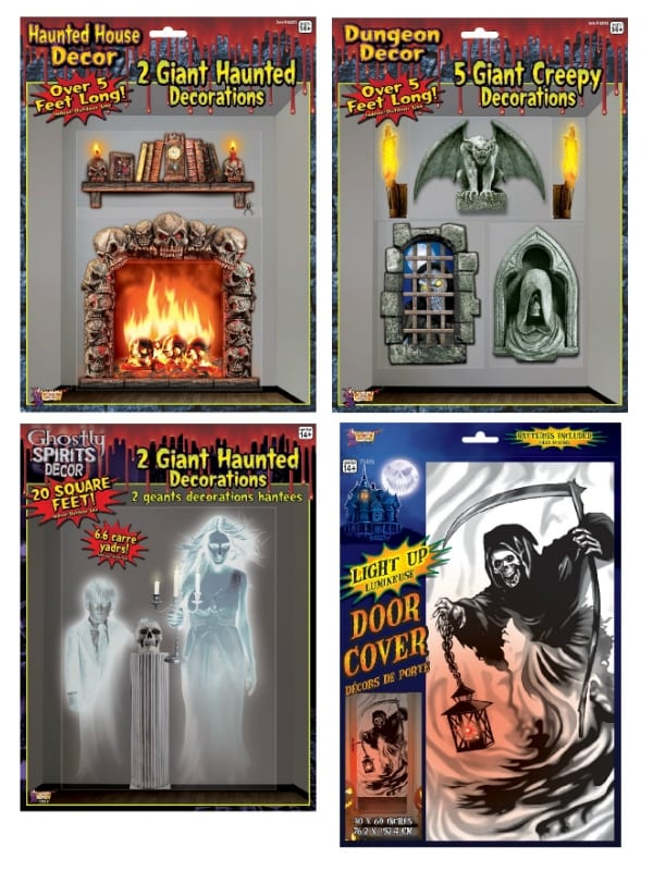 HALLOWEEN PARTY HAUNTED HOUSE WALL OR DOOR DECORATIONS FANCY DRESS PARTY