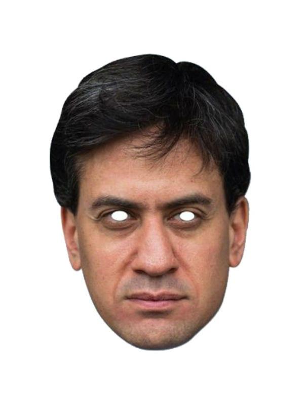 EDWARD MILIBAND BRITISH POLITICIAN CARD FACE MASK PARTY ACCESSORY